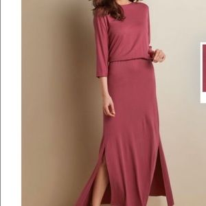 Soft Surroundings Sloane Dress Maxi Petite Medium